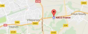 Plan accès Abco france