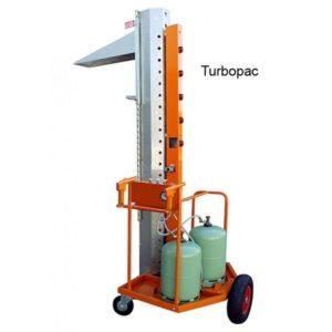 Colonne de rétraction Turbopac permet de gagner beaucoup de temps sur la rétraction des palettes