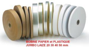 bande plastique papier banderoleuse-de-table